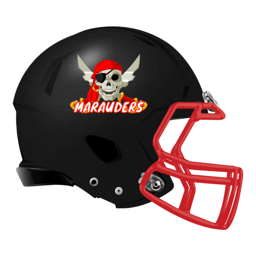 marauders fantasy football Logo helmet