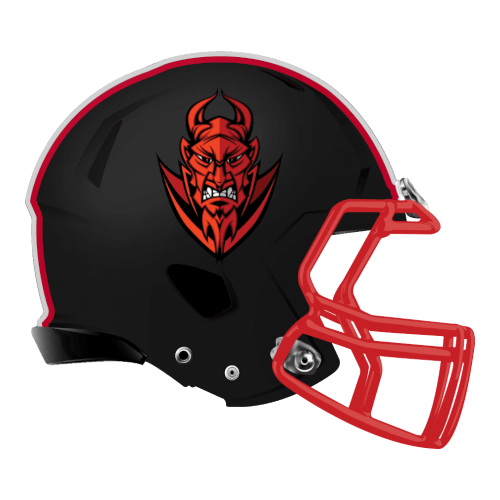 red devils demons fantasy football Logo helmet