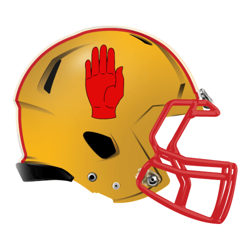 hand high five fantasy football Logo helmet