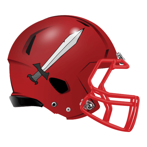 sword metal fantasy football Logo helmet