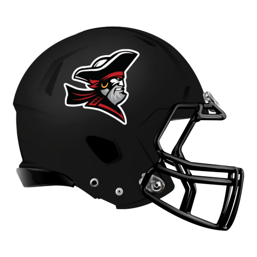 pirate captain fantasy football Logo helmet