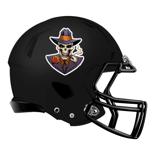 skeleton skulls gangsters fantasy football Logo helmet