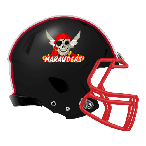 marauders skull skeleton pirate swords fantasy football Logo helmet