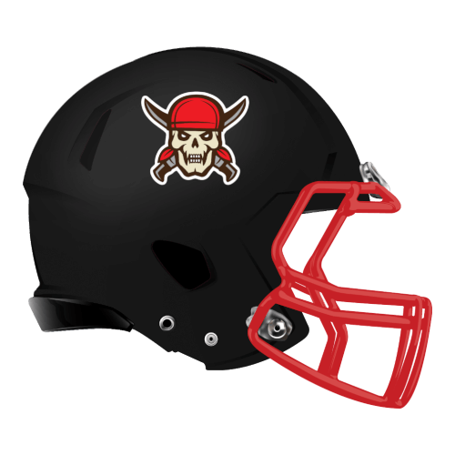 skull and cross bones fantasy football Logo helmet