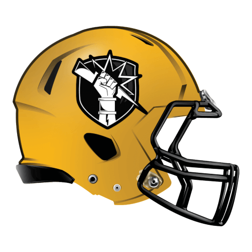hand lightning bolt fantasy football Logo helmet