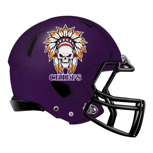 chiefs indian skull skeleton fantasy football Logo helmet