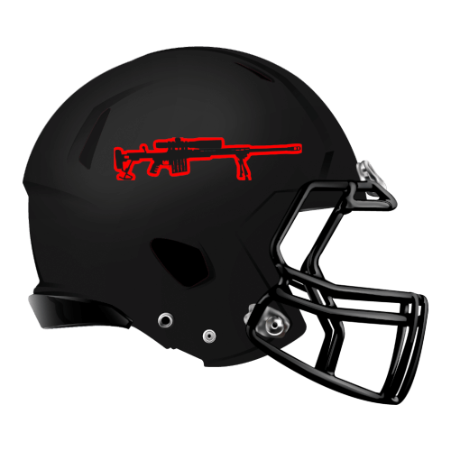 gun assault rifle  fantasy football Logo helmet