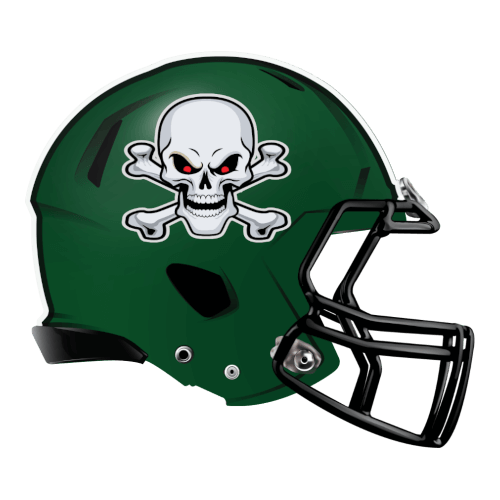 skeleton skull crossbones  fantasy football Logo helmet