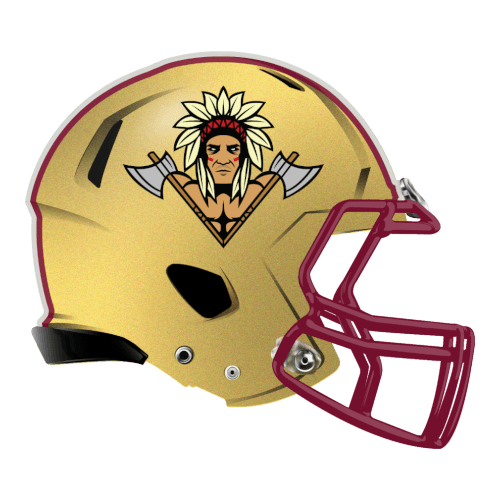 native american indian chief axes fantasy football Logo helmet