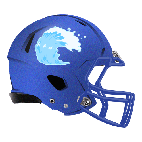 tsunami wave fantasy football Logo helmet