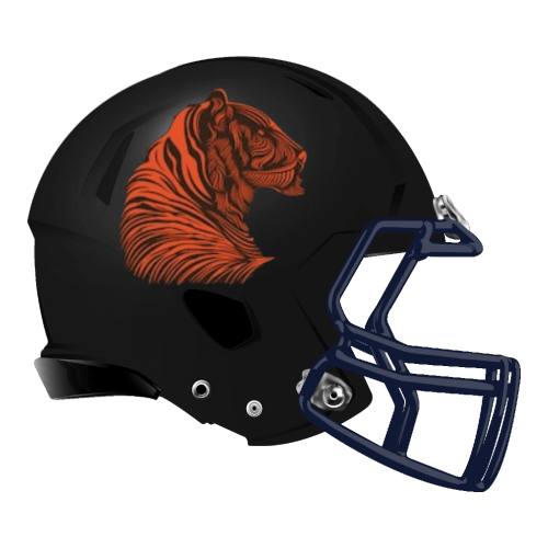 tiger bi cat bengal fantasy football Logo helmet