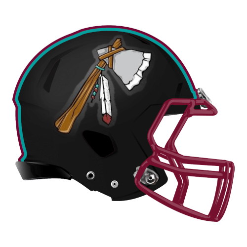 tomahawk indian native american fantasy football Logo helmet