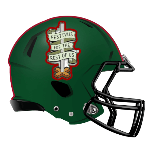 festivus pole seinfield fantasy football Logo helmet