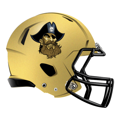 gold pirates fantasy football Logo helmet