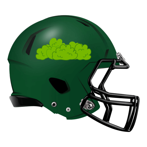 green clouds fart fantasy football Logo helmet