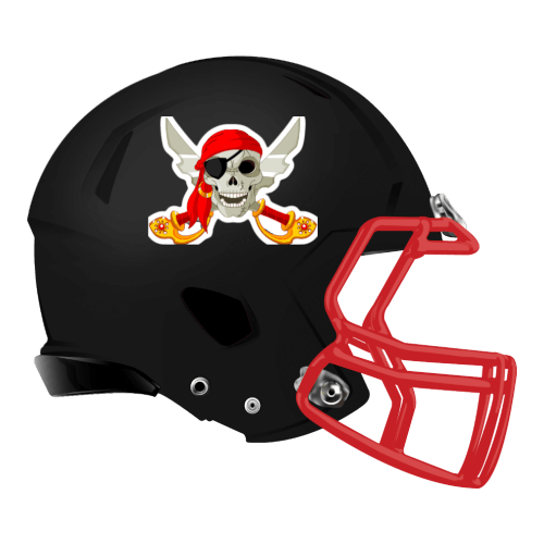 pirate skeleton skull fantasy football Logo helmet