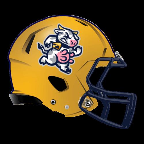 cow milk moo fantasy football Logo helmet