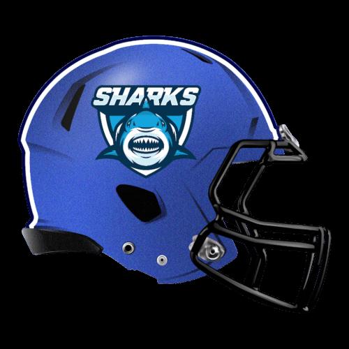 sharks great white fantasy football Logo helmet