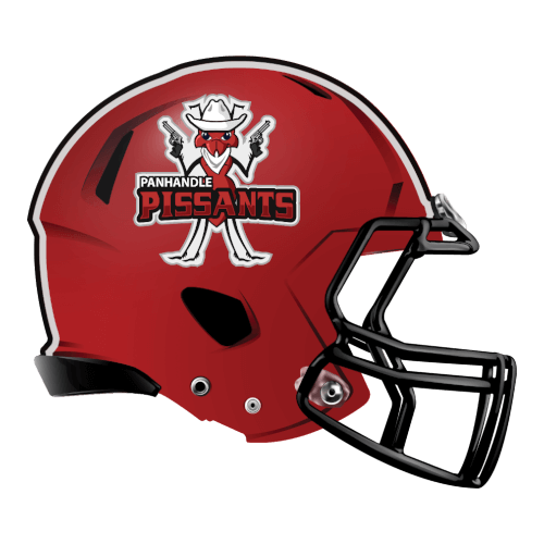 panhandle pissants fantasy football Logo helmet