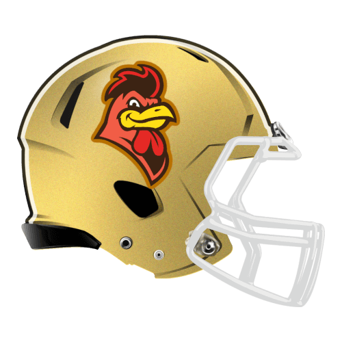 gamecock chicken rooster fantasy football Logo helmet