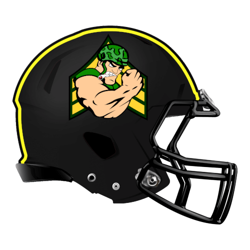 army military muscle soldier fantasy football Logo helmet