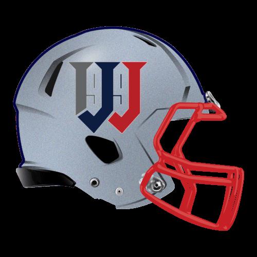 letter w number 99 fantasy football Logo helmet
