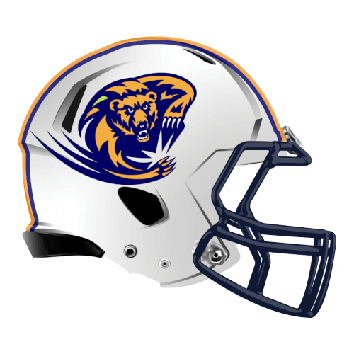 bear claw slash fantasy football Logo helmet