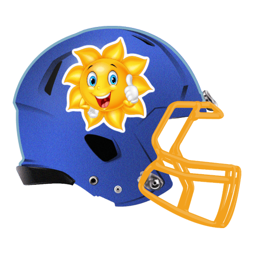 sun happy thumbs up fantasy football Logo helmet