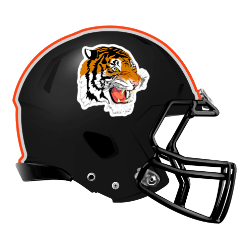 tiger cat bengal fantasy football Logo helmet