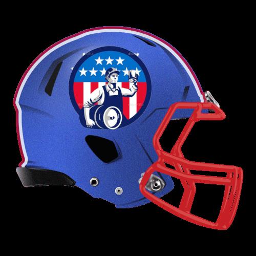 keg beer flag usa fantasy football Logo helmet