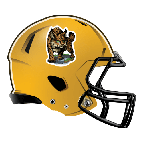 bobcats cats lynx fantasy football Logo helmet