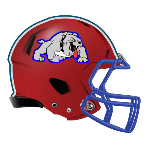 bulldog fantasy football Logo helmet
