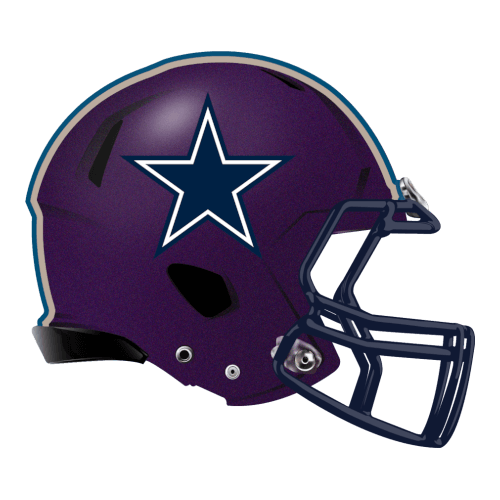 cowboys star fantasy football Logo helmet