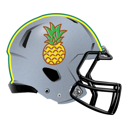 pineapple fantasy football Logo helmet