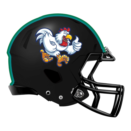 chicken fantasy football Logo helmet