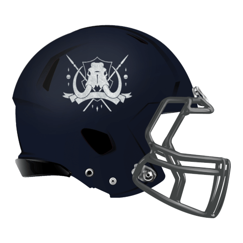 elephant mammoth wolly fantasy football Logo helmet
