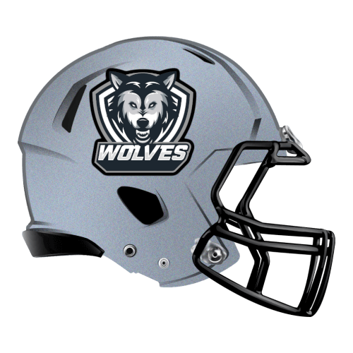 gray wolves fantasy football Logo helmet