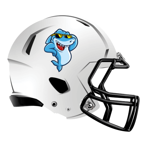 cool shark fantasy football Logo helmet
