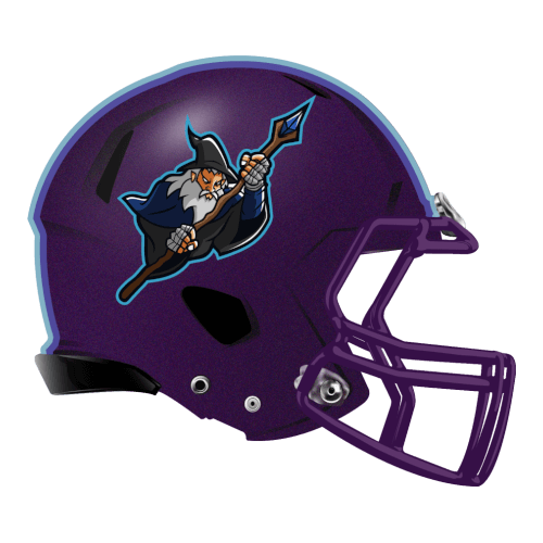 elf wizard fantasy football Logo helmet