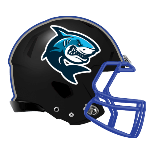 angry mad shark fantasy football Logo helmet