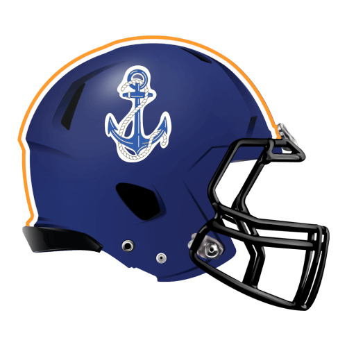 rope anchor sea fantasy football Logo helmet
